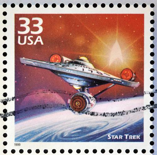 US star trek postage stamp
