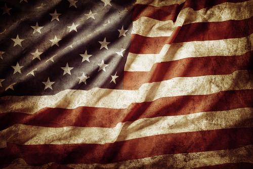closeup grunge american flag