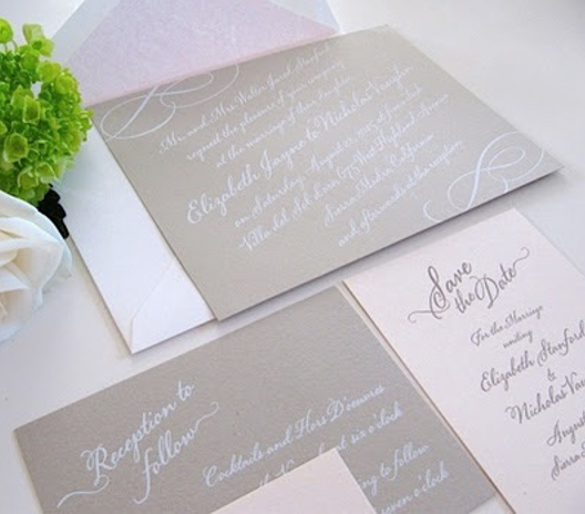 cream wedding stationery set