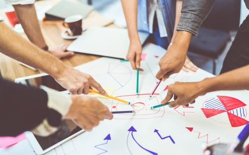 creative idea teamwork concept