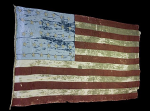 museum preserved US flag