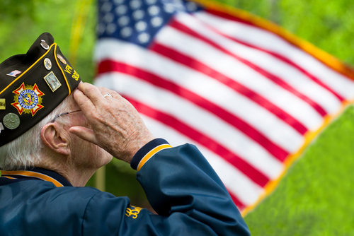 veteran saluting